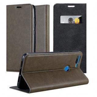 Cadorabo Hülle für Xiaomi Mi 8 Lite in KAFFEE BRAUN - Handyhülle mit Magnetverschluss, Standfunktion und Kartenfach - Case Cover Schutzhülle Etui Tasche Book Klapp Style