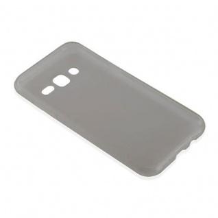 Cadorabo Hülle für Samsung Galaxy J5 2015 in TRANSPARENT SCHWARZ - Handyhülle aus flexiblem TPU Silikon - Silikonhülle Schutzhülle Ultra Slim Soft Back Cover Case Bumper - Vorschau 3