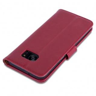 Cadorabo Hülle für Samsung Galaxy S7 EDGE in WEIN ROT ? Handyhülle mit Magnetverschluss, Standfunktion und Kartenfach ? Case Cover Schutzhülle Etui Tasche Book Klapp Style - Vorschau 5