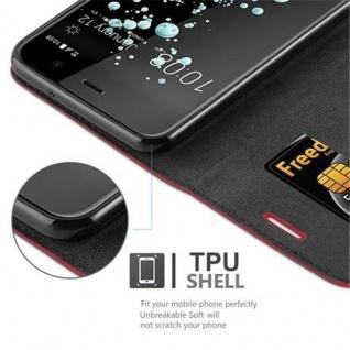 Cadorabo Hülle für HTC U PLAY in APFEL ROT Handyhülle mit Magnetverschluss, Standfunktion und Kartenfach Case Cover Schutzhülle Etui Tasche Book Klapp Style - Vorschau 3