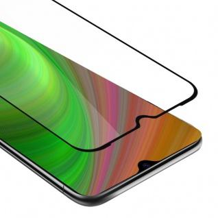 Cadorabo Vollbild Panzer Folie für Xiaomi Mi CC9 - Schutzfolie in TRANSPARENT mit SCHWARZ - Gehärtetes (Tempered) Display-Schutzglas in 9H Härte mit 3D Touch