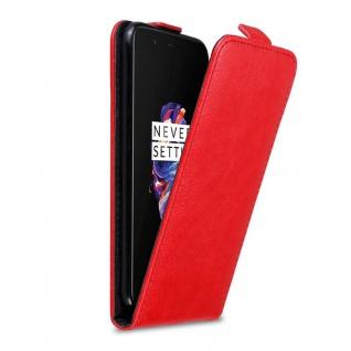 Cadorabo Hülle für OnePlus 5 in APFEL ROT Handyhülle im Flip Design mit Magnetverschluss Case Cover Schutzhülle Etui Tasche Book Klapp Style