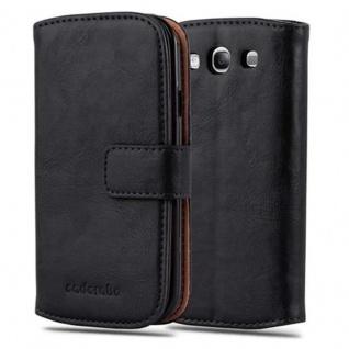 Cadorabo Hülle für Samsung Galaxy S3 / S3 NEO in GRAPHIT SCHWARZ ? Handyhülle mit Magnetverschluss, Standfunktion und Kartenfach ? Case Cover Schutzhülle Etui Tasche Book Klapp Style - Vorschau 1