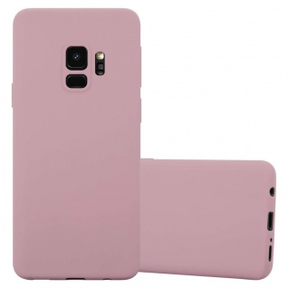 Cadorabo Hülle für Samsung Galaxy S9 in CANDY ROSA - Handyhülle aus flexiblem TPU Silikon - Silikonhülle Schutzhülle Ultra Slim Soft Back Cover Case Bumper
