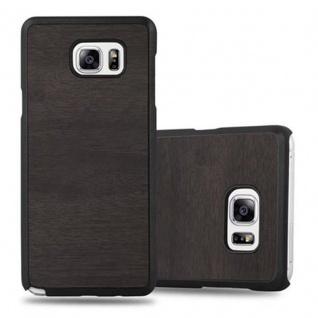 Cadorabo Hülle für Samsung Galaxy NOTE 5 in WOODY SCHWARZ ? Hardcase Handyhülle aus Plastik gegen Kratzer und Stöße ? Schutzhülle Bumper Ultra Slim Back Case Hard Cover