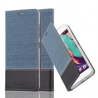 Cadorabo Hülle für HTC Desire 10 PRO in DUNKEL BLAU SCHWARZ - Handyhülle mit Magnetverschluss, Standfunktion und Kartenfach - Case Cover Schutzhülle Etui Tasche Book Klapp Style