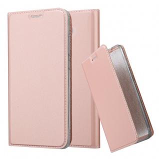 Cadorabo Hülle für Huawei MATE 9 in CLASSY ROSÉ GOLD - Handyhülle mit Magnetverschluss, Standfunktion und Kartenfach - Case Cover Schutzhülle Etui Tasche Book Klapp Style