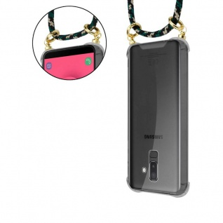 Cadorabo Handy Kette für Samsung Galaxy J8 2018 in CAMOUFLAGE - Silikon Necklace Umhänge Hülle mit Gold Ringen, Kordel Band Schnur und abnehmbarem Etui ? Schutzhülle - Vorschau 3