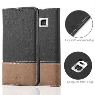 Cadorabo Hülle für Samsung Galaxy ALPHA in SCHWARZ BRAUN ? Handyhülle mit Magnetverschluss, Standfunktion und Kartenfach ? Case Cover Schutzhülle Etui Tasche Book Klapp Style - Vorschau 2