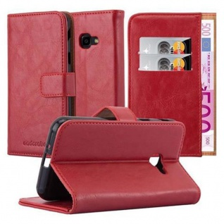 Cadorabo Hülle für Samsung Galaxy Xcover 4 in WEIN ROT ? Handyhülle mit Magnetverschluss, Standfunktion und Kartenfach ? Case Cover Schutzhülle Etui Tasche Book Klapp Style
