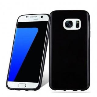 Cadorabo Hülle für Samsung Galaxy S7 in SCHWARZ - Handyhülle aus flexiblem TPU Silikon - Silikonhülle Schutzhülle Ultra Slim Soft Back Cover Case Bumper