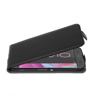 Cadorabo Hülle für Sony Xperia XA - Hülle in OXID SCHWARZ ? Handyhülle aus strukturiertem Kunstleder im Flip Design - Case Cover Schutzhülle Etui Tasche
