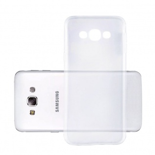 Cadorabo Hülle für Samsung Galaxy E5 in VOLL TRANSPARENT - Handyhülle aus flexiblem TPU Silikon - Silikonhülle Schutzhülle Ultra Slim Soft Back Cover Case Bumper