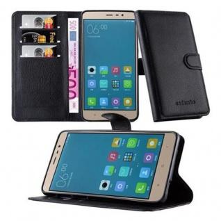 Cadorabo Hülle für Xiaomi RedMi NOTE 3 - Hülle in PHANTOM SCHWARZ ? Handyhülle mit Kartenfach und Standfunktion - Case Cover Schutzhülle Etui Tasche Book Klapp Style