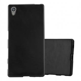 Cadorabo Hülle für Sony Xperia Z5 in SCHWARZ - Handyhülle aus flexiblem TPU Silikon - Silikonhülle Schutzhülle Ultra Slim Soft Back Cover Case Bumper