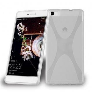 Cadorabo Hülle für Huawei P8 LITE 2015 in HALB TRANSPARENT - Handyhülle aus flexiblem TPU Silikon - Silikonhülle Schutzhülle Ultra Slim Soft Back Cover Case Bumper