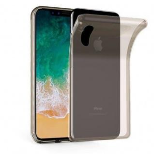 Cadorabo Hülle für Apple iPhone X - Hülle in TRANSPARENT SCHWARZ ? Handyhülle aus TPU Silikon im Ultra Slim 'AIR' Design - Ultra Slim Soft Backcover Case Bumper