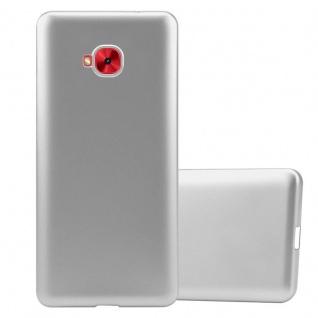 Cadorabo Hülle für Asus ZenFone 4 Selfie PRO in METALLIC SILBER - Handyhülle aus flexiblem TPU Silikon - Silikonhülle Schutzhülle Ultra Slim Soft Back Cover Case Bumper