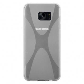 Cadorabo Hülle für Samsung Galaxy S7 EDGE in HALB TRANSPARENT - Handyhülle aus flexiblem TPU Silikon - Silikonhülle Schutzhülle Ultra Slim Soft Back Cover Case Bumper