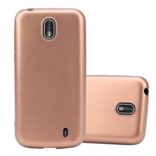 Cadorabo Hülle für Nokia 1 2017 in METALLIC ROSÉ GOLD - Handyhülle aus flexiblem TPU Silikon - Silikonhülle Schutzhülle Ultra Slim Soft Back Cover Case Bumper