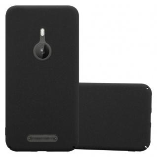 Cadorabo Hülle für Nokia Lumia 925 in FROSTY SCHWARZ - Hardcase Handyhülle aus Plastik gegen Kratzer und Stöße - Schutzhülle Bumper Ultra Slim Back Case Hard Cover