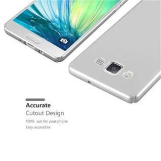 Cadorabo Hülle für Samsung Galaxy A5 2015 in METALL SILBER ? Hardcase Handyhülle aus Plastik gegen Kratzer und Stöße ? Schutzhülle Bumper Ultra Slim Back Case Hard Cover - Vorschau 3