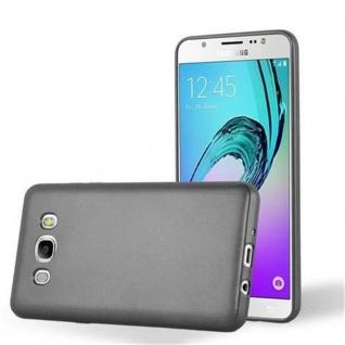Cadorabo Hülle für Samsung Galaxy J5 2016 in METALLIC GRAU - Handyhülle aus flexiblem TPU Silikon - Silikonhülle Schutzhülle Ultra Slim Soft Back Cover Case Bumper