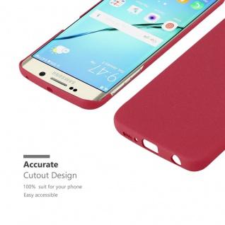 Cadorabo Hülle für Samsung Galaxy S6 EDGE in FROSTY ROT - Hardcase Handyhülle aus Plastik gegen Kratzer und Stöße - Schutzhülle Bumper Ultra Slim Back Case Hard Cover - Vorschau 5