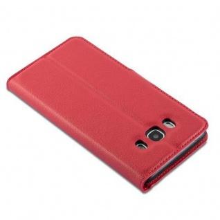 Cadorabo Hülle für Samsung Galaxy J7 2016 in KARMIN ROT Handyhülle mit Magnetverschluss, Standfunktion und Kartenfach Case Cover Schutzhülle Etui Tasche Book Klapp Style - Vorschau 5