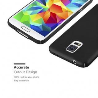 Cadorabo Hülle für Samsung Galaxy S5 / S5 NEO in METALL SCHWARZ - Hardcase Handyhülle aus Plastik gegen Kratzer und Stöße - Schutzhülle Bumper Ultra Slim Back Case Hard Cover - Vorschau 5