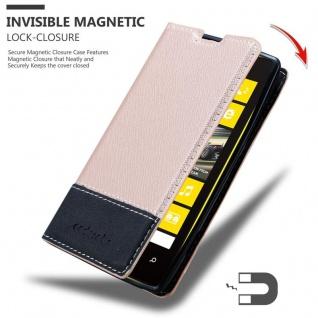 Cadorabo Hülle für Nokia Lumia 520 in ROSÉ GOLD SCHWARZ ? Handyhülle mit Magnetverschluss, Standfunktion und Kartenfach ? Case Cover Schutzhülle Etui Tasche Book Klapp Style - Vorschau 3