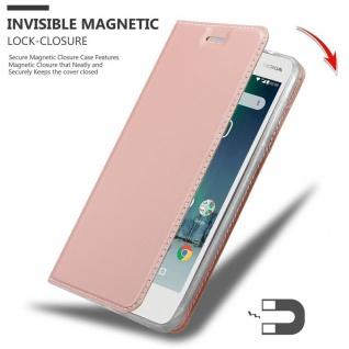 Cadorabo Hülle für Nokia 2 2017 in CLASSY ROSÉ GOLD - Handyhülle mit Magnetverschluss, Standfunktion und Kartenfach - Case Cover Schutzhülle Etui Tasche Book Klapp Style - Vorschau 3