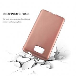 Cadorabo Hülle für Samsung Galaxy ALPHA in METALLIC ROSE GOLD - Handyhülle aus flexiblem TPU Silikon - Silikonhülle Schutzhülle Ultra Slim Soft Back Cover Case Bumper - Vorschau 3