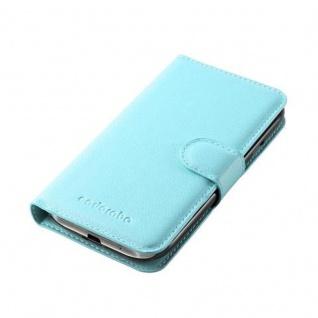 Cadorabo Hülle für Samsung Galaxy S4 MINI in PASTEL BLAU - Handyhülle mit Magnetverschluss, Standfunktion und Kartenfach - Case Cover Schutzhülle Etui Tasche Book Klapp Style - Vorschau 3