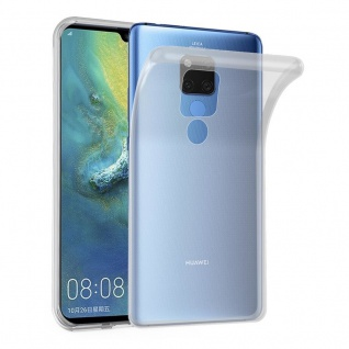 Cadorabo Hülle für Huawei MATE 20 X in VOLL TRANSPARENT Handyhülle aus flexiblem TPU Silikon Silikonhülle Schutzhülle Ultra Slim Soft Back Cover Case Bumper