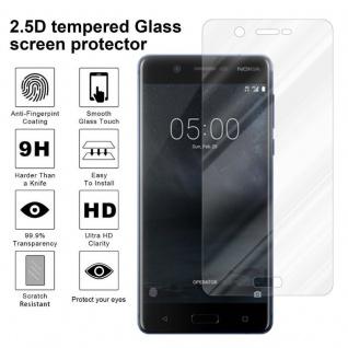 Cadorabo Panzer Folie für Nokia 5.1 2018 - Schutzfolie in KRISTALL KLAR - Gehärtetes (Tempered) Display-Schutzglas in 9H Härte mit 3D Touch Kompatibilität - Vorschau 4