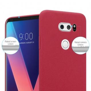 Cadorabo Hülle für LG V30 in FROSTY ROT - Hardcase Handyhülle aus Plastik gegen Kratzer und Stöße - Schutzhülle Bumper Ultra Slim Back Case Hard Cover - Vorschau 3
