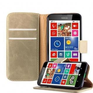 Cadorabo Hülle für Nokia Lumia 630 in CAPPUCCINO BRAUN ? Handyhülle mit Magnetverschluss, Standfunktion und Kartenfach ? Case Cover Schutzhülle Etui Tasche Book Klapp Style