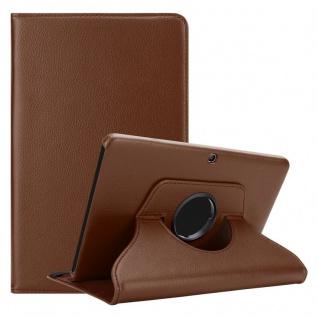 """Cadorabo Tablet Hülle für Samsung Galaxy Tab 4 (10, 1"""" Zoll) SM-T530 / T535 in PILZ BRAUN Book Style Schutzhülle OHNE Auto Wake Up mit Standfunktion und Gummiband Verschluss"""