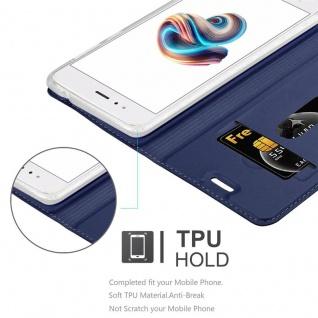 Cadorabo Hülle für Xiaomi Mi A1 / 5X in CLASSY DUNKEL BLAU - Handyhülle mit Magnetverschluss, Standfunktion und Kartenfach - Case Cover Schutzhülle Etui Tasche Book Klapp Style - Vorschau 2