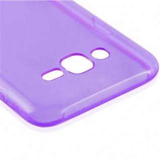 Cadorabo Hülle für Samsung Galaxy J7 2015 in TRANSPARENT LILA - Handyhülle aus flexiblem TPU Silikon - Silikonhülle Schutzhülle Ultra Slim Soft Back Cover Case Bumper - Vorschau 4
