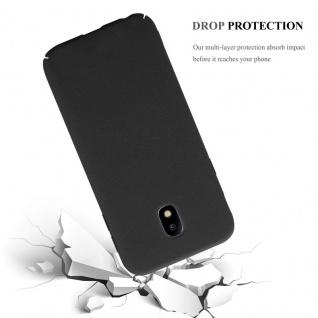 Cadorabo Hülle für Samsung Galaxy J3 2017 in FROSTY SCHWARZ - Hardcase Handyhülle aus Plastik gegen Kratzer und Stöße - Schutzhülle Bumper Ultra Slim Back Case Hard Cover - Vorschau 4