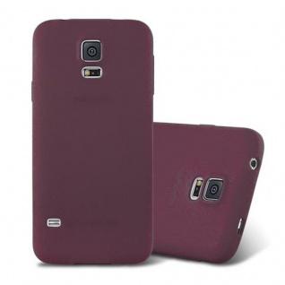 Cadorabo Hülle für Samsung Galaxy S5 / S5 NEO in FROST BORDEAUX LILA - Handyhülle aus flexiblem TPU Silikon - Silikonhülle Schutzhülle Ultra Slim Soft Back Cover Case Bumper