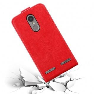 Cadorabo Hülle für Lenovo K6 / K6 POWER in APFEL ROT Handyhülle im Flip Design mit Magnetverschluss Case Cover Schutzhülle Etui Tasche Book Klapp Style - Vorschau 5