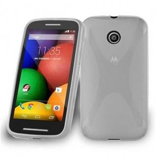 Cadorabo Hülle für Motorola MOTO E in HALB TRANSPARENT ? Handyhülle aus flexiblem TPU Silikon ? Silikonhülle Schutzhülle Ultra Slim Soft Back Cover Case Bumper