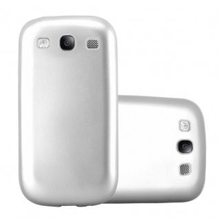 Cadorabo Hülle für Samsung Galaxy S3 / S3 NEO in METALLIC SILBER - Handyhülle aus flexiblem TPU Silikon - Silikonhülle Schutzhülle Ultra Slim Soft Back Cover Case Bumper
