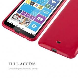 Cadorabo Hülle für Nokia Lumia 1320 in JELLY ROT - Handyhülle aus flexiblem TPU Silikon - Silikonhülle Schutzhülle Ultra Slim Soft Back Cover Case Bumper - Vorschau 4