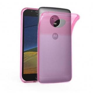 Cadorabo Hülle für Motorola MOTO G5 PLUS - Hülle in TRANSPARENT PINK ? Handyhülle aus TPU Silikon im Ultra Slim 'AIR' Design - Ultra Slim Soft Backcover Case Bumper
