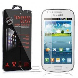 Cadorabo Panzer Folie für Samsung Galaxy TREND DUOS - Schutzfolie in KRISTALL KLAR - Gehärtetes (Tempered) Display-Schutzglas in 9H Härte mit 3D Touch Kompatibilität