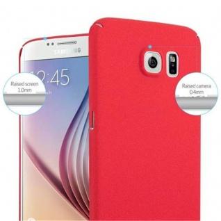 Cadorabo Hülle für Samsung Galaxy S6 in FROSTY ROT - Hardcase Handyhülle aus Plastik gegen Kratzer und Stöße - Schutzhülle Bumper Ultra Slim Back Case Hard Cover - Vorschau 5